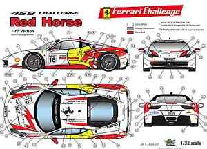 FFSMC-Productions-Decals-1-32-Ferrari-F-458-Challenge-034-Red-Horse-034-Non-Race