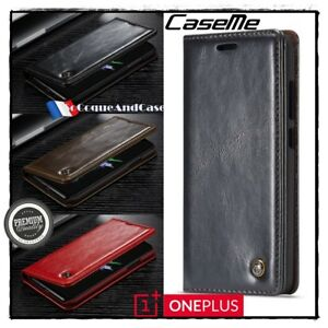 Etui-Coque-housse-CASEME-Oil-Wax-Cuir-PU-Leather-Wallet-Case-Cover-OnePlus-6