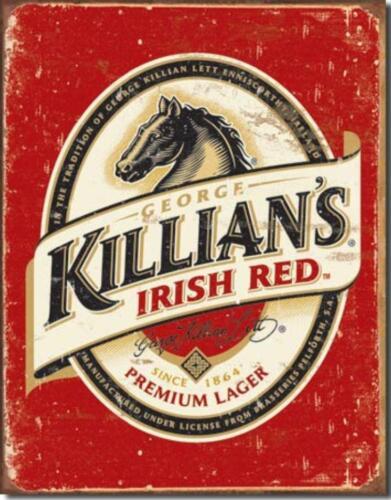 George Killian/'s Irish Red Beer Nostalgic Horse Tin Metal Beer Bar Sign