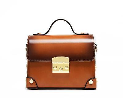 Korea Style Retro Mini Handbags Metal Decor Shoulder Bags PU Leather Small Totes
