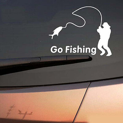 New Go Fishing Vinyl Car Graphic Reflective Vehicle Sticker Decal Decor Auto CN