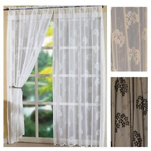 Image Is Loading CAPRICE Slot Top Vintage Lace Window Panels Black