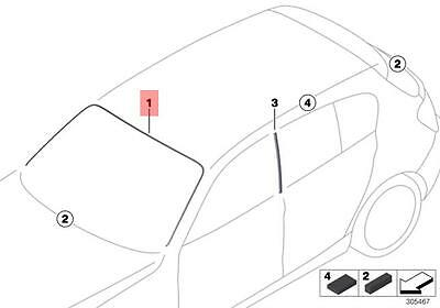 Genuine BMW 1 Series F20 F21 F22 Windscreen Moulding Trim OEM 51317240671