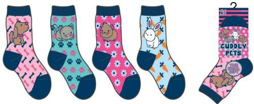 6 Pairs Children/'s Kids Girls Boys Soft Socks Designer Space Pet Character Print