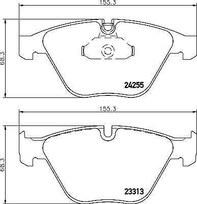 Hella Pagid Front Brake Pads - DB2187H fits BMW X1 E84 xDrive 28 i sDrive 20 i