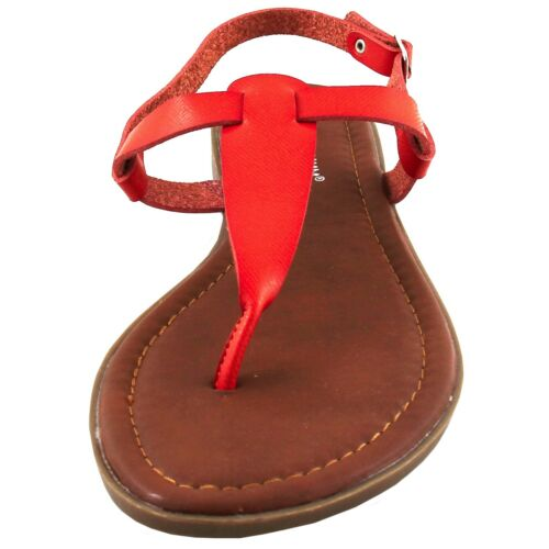 New women/'s shoes fashion sandals t strap casual buckle closure summer orange