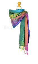 Rainbow Print Pashmina Shawl/Wrap/Scarf/Cover-Up-Formal/Wedding/Gift Party UK