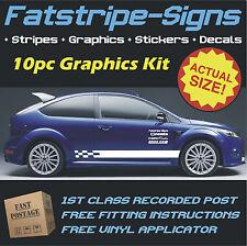 FORD FOCUS STRIPES CAR VINYL GRAPHICS ST ZETEC DECALS 1.1 1.2 1.3 1.4 1.6 1.8 D