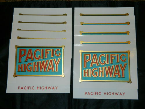 "Lot of 10 Rare Vintage Pacific Highway Cigar Box Labels 8/""x7/"""