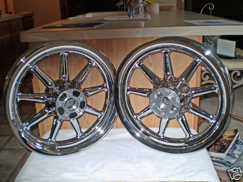 Used Harley Davidson Wheels >> Harley Davidson Oem 16 X 3 9 Spoke Chrome Wheels 00 08 Nr For Sale