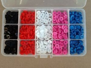 101pcs-Plastic-Snap-Fasteners-Kit-Includes-15-Compartment-Case