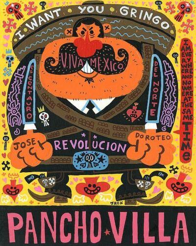 Pancho Villa The Centaur of the North Jorge R Gutierrez Art Print 8x10