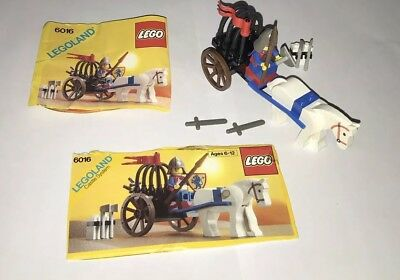 Lego Castle Lion Knights Set 6016-1 Knights/' Arsenal 100/% complete instructions