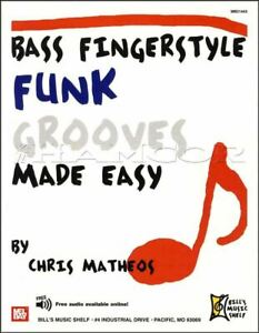 Soigneux Bass Fingerstyle Funk Grooves Made Easy Guitar Tab Book/audio MÊme Jour ExpÉdition-afficher Le Titre D'origine Ventes Pas ChèRes 50%