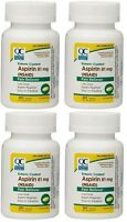 4 Pack Quality Choice Enteric Coated Lo-dose Aspirin 81mg Tablet 365 Count Each on sale