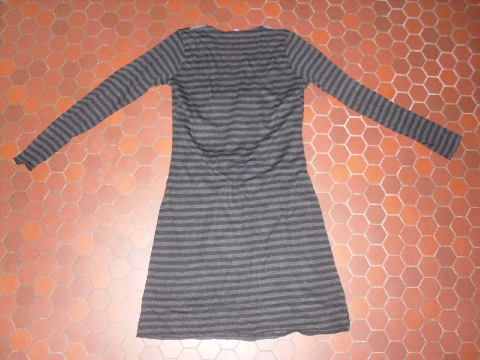 Robe noire moulante rayé noire Robe grise femme LA MODE EST A VOUS taille 38 1f51c2