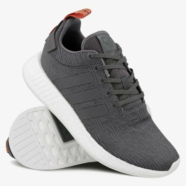 Adidas BY3014 NMD R2 Freizeitschuhe graue / rote Sneakers