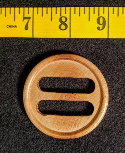 """2.25/"""" Lot of 10 Finished Wood Belt Buckle Slides DIY Crafts Sewing USA"""