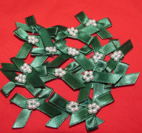 Perla Arcos de la cinta de raso Adornos 10 arcos por paquete de 15 Colores
