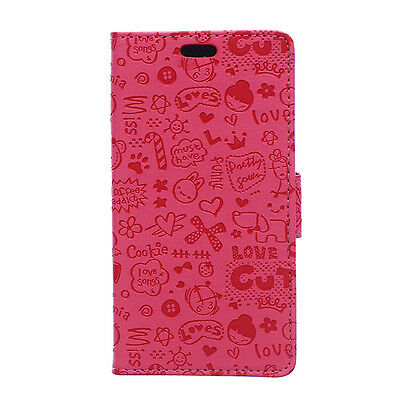 Cute Wallet Stand Flip Slim Magnetic Leather Case Cover For Sony Z4 M4 LG G4