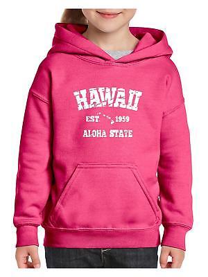 HI Hawaii Map Honolulu Maui Aloha Flag Home of University of  Youth/&Kids Hoodie