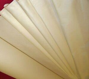 Lourd-100-satin-de-coton-RIDEAU-garnitures-creme
