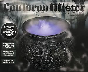 Halloween Cauldron Mister Mist/Smoke Fog Machine Colour changing ...