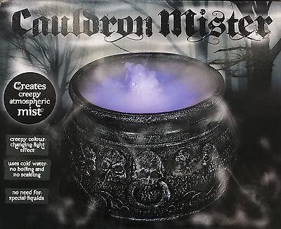 NEW Cauldron Mister Halloween Decoration Colour Changing Spooky Decor 7/'/'