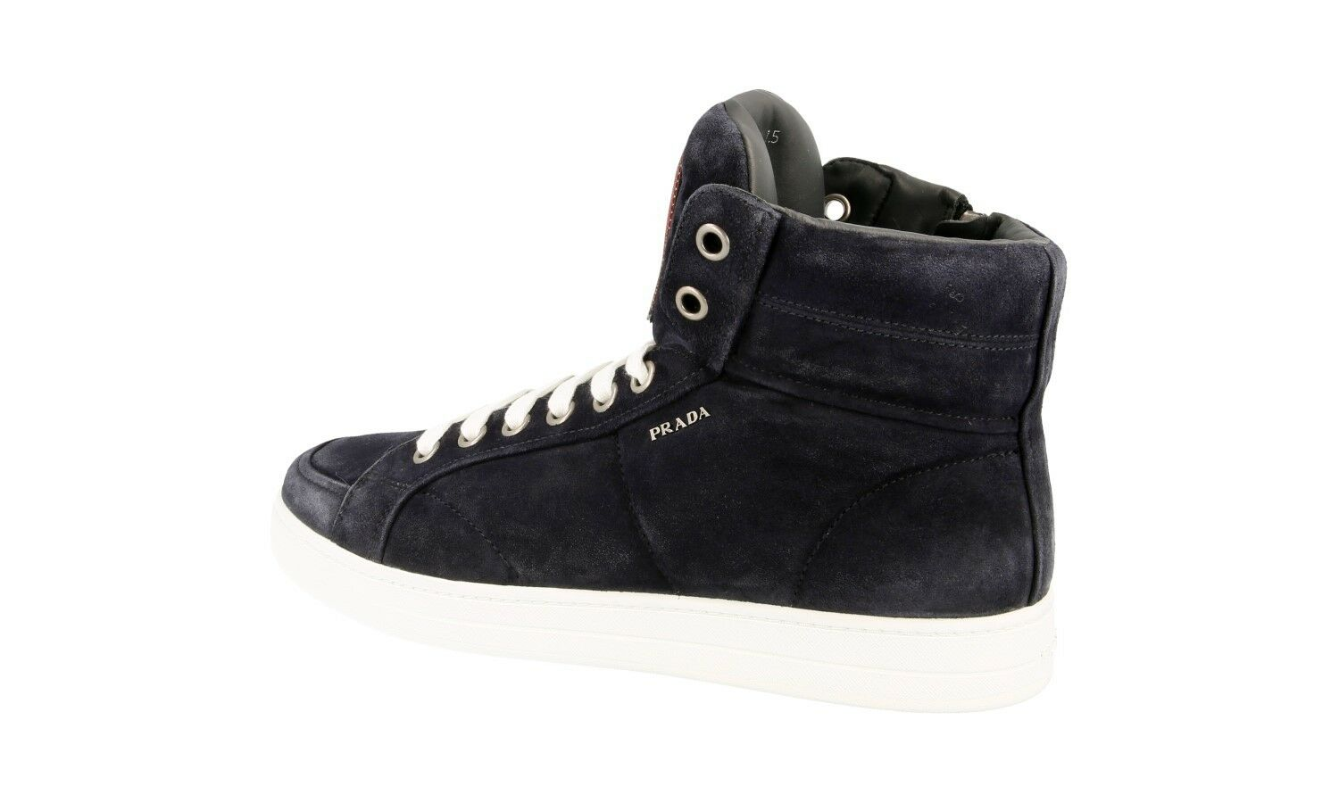 LUXUS PRADA HIGH TOP SNEAKER SCHUHE 4T2596 BLAU 42 NEU NEW 7,5 41,5 42 BLAU f52865