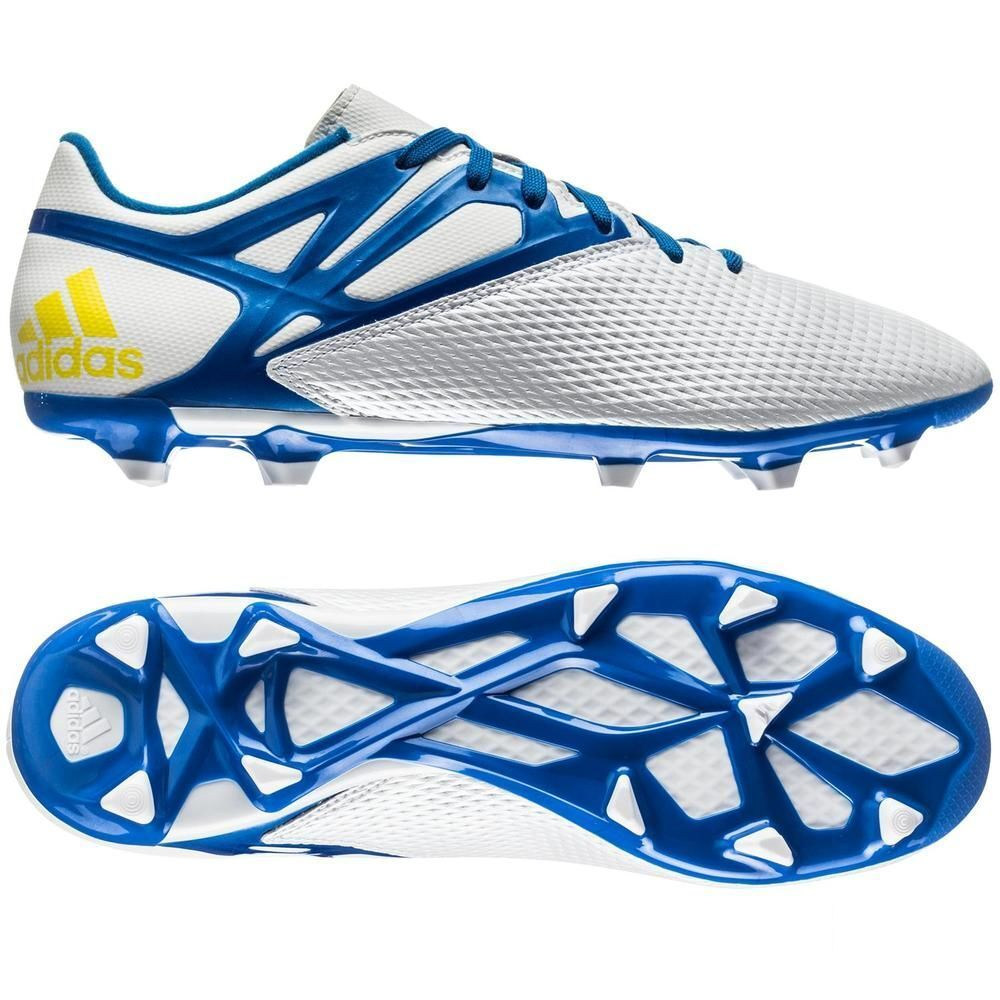 Adidas F15.3 TRX FG   AG Messi 2015 Soccer shoes White   bluee Kids Youth Jr