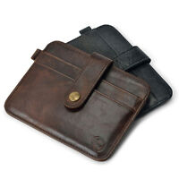 New Men's Leather Magic Money Clip Slim Wallet ID Credit Card Holder Case Purse