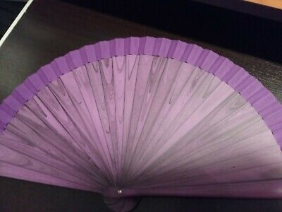 Ventaglio Plastica Viola Stampata Su Due Lati Con Venature Legno (art.45)