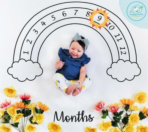 Newborn Baby Infants Milestone Blanket Mat Cute Photography Prop Background Mat