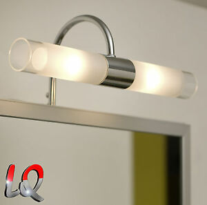 wandleuchte lampe bad spiegelleuchte badleuchte badlampe chrom glas eglo 85816. Black Bedroom Furniture Sets. Home Design Ideas
