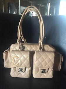 fef58a4fde4ff7 Image is loading CHANEL-CC-Quilted-Leather-Cambon-Reporter-Bag