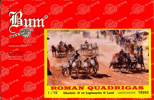 BUM Models 1//72 ROMAN QUADRIGAS RACING CHARIOTS Figure Set