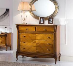 Dettagli su Comò stile classico in legno di ciliegio, comò camera da letto,  zona notte