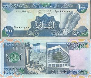 Liban 1000 Livres. NEUF ١٩٩١ (1991) Billet de banque Cat# P.69c
