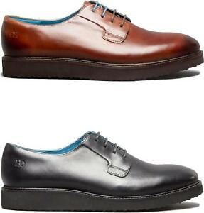 Oswin-Hyde-TAYLOR-Mens-Leather-Derby-Brogue-Lace-Up-Thick-Wedge-Sole-Smart-Shoes