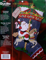 Bucilla Christmas Carousel 18 Felt Christmas Stocking Kit 85316 Music Horses