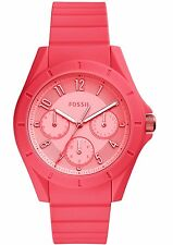 Fossil Women's ES4187 'Poptastic Sport' Multi-Function Red Silicone Watch