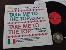 LP Advance take me to the top Italo discoteca GERMANY 1983 | EX
