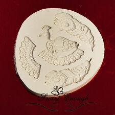Peacock silicone food grade mold mould wedding birthday bird feathers