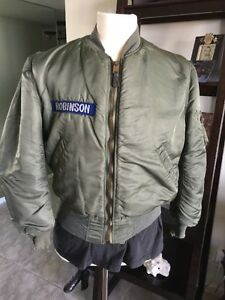 6f18865ab58 RARE! 1965 Vietnam USAF MA-1 FLIGHT JACKET US Air Force Mil. Uniform ...