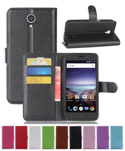Details about Leather wallet stand Case For ZTE Maven 3 Z835 / Overture 3 /  Prelude Plus Z851