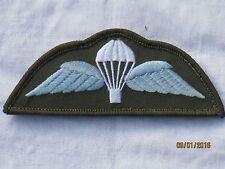 Para Schwinge,Qualified Parachutist,Fallschirmjäger,hellblau/weiß auf oliv,klett