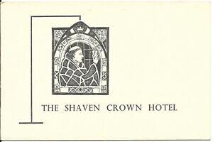 SHAVEN-CROWN-HOTEL-Shipton-un-Wychwood-12pp-brochure-illust-Kathleen-Laurie-1954