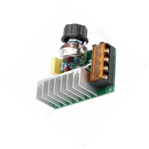 4000W 220V AC SCR Voltage Regulator Dimmer Thermostat Electric Motor Controller