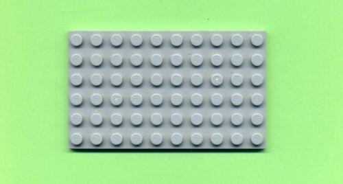 6 x 10 Bauplatte --- Grau/MDStone Grundplatte Lego--3033