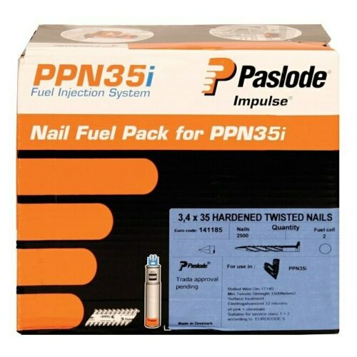 PPN35i // PPN35Ci Paslode Twisted Electro Galvanised Nails 35mm 141185